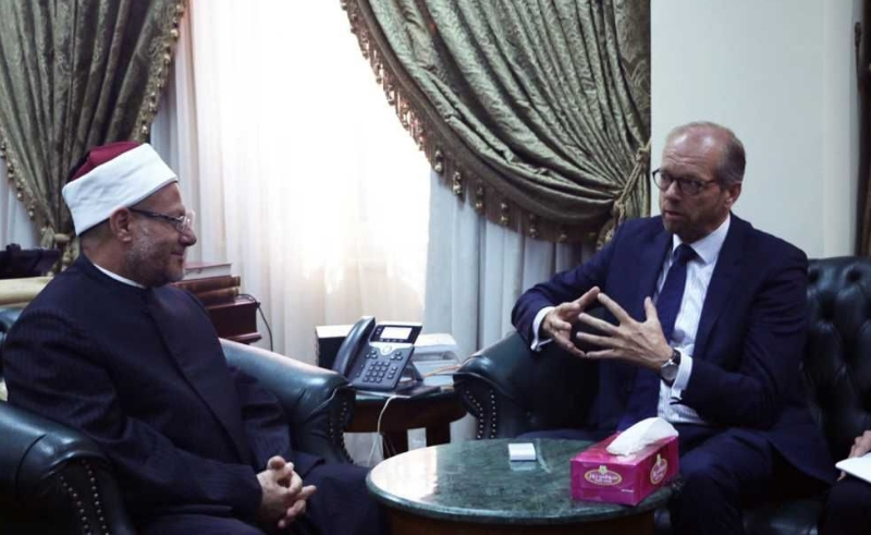 Dutch ambassador meets with grand mufti and apologises for cartoon contest of prophet Mohamed.
