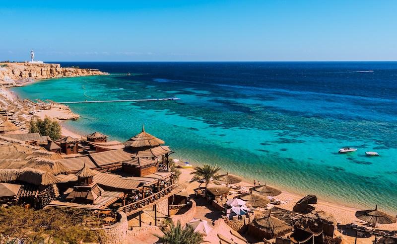 Sharm El Sheikh beach.