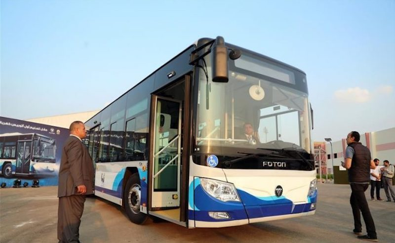Cairo's First Electric Bus Starts Launches with Downtown-New Cairo Route