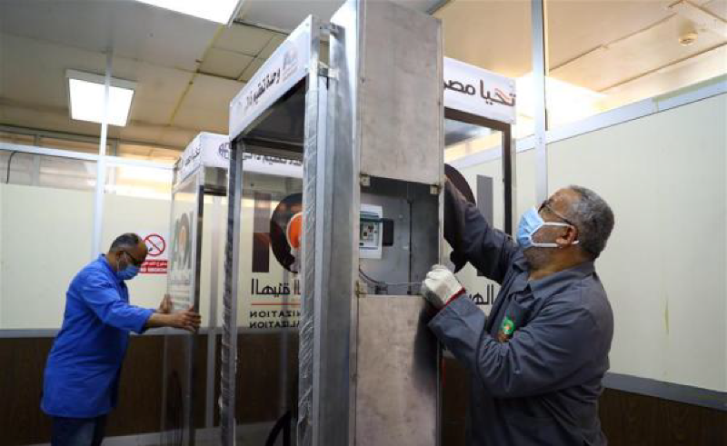 Egypt Begins Manufacturing COVID-19 Disinfectant Cabins for Building Entryways