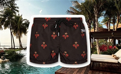 Egyptian Clothing Brand Maksters Infuses Royalty and Comfort into a Pair of Swimming Trunks