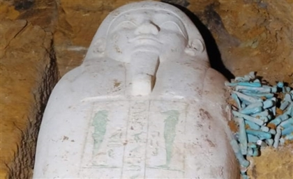 This Immaculately Preserved Limestone Coffin was Just Found at Minya