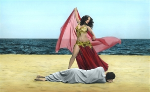 Salma Hayek Starring as a Belly Dancer in Egyptian Artist's Short Film