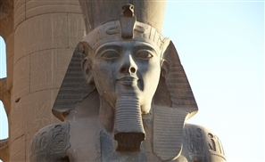 Original Ramses II Statue Being Restored in Luxor