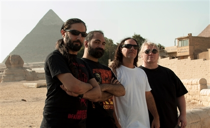 Nader Sadek interviews Nile's Karl Sanders, Derek Roddy and Mahmud Gecekusu In Egypt