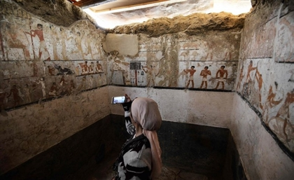 5 Photos of The 4,400-Year-Old Tomb Unearthed Near Giza Pyramids on Saturday