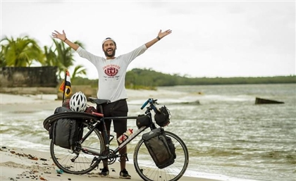 This Egyptian is Cycling to Russia for the FIFA World Cup