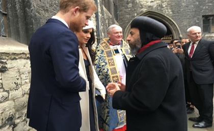 Egyptian Coptic Archbishop Blesses Prince Harry and Meghan Markle at Royal Wedding Ceremony