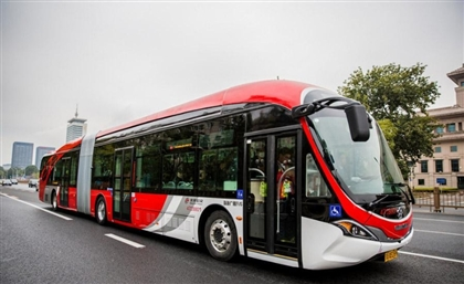 Alexandria Receives its First Electric Bus From China