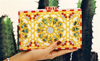 This Egyptian Brand's Mother of Pearl Clutches Merge Arab Architecture with Kenyan Colours