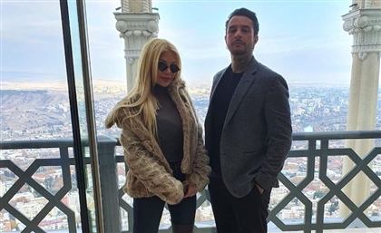 New BTS Pictures Of Haifa Wehbe And Ahmad El Fishawy On Set Of Mohamed Hamaki's First Film