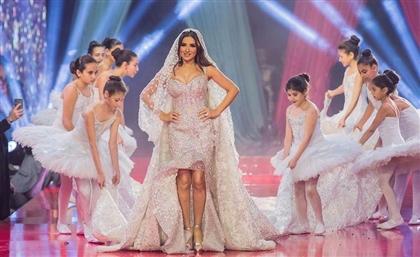 Mai Omar Models a $15 million Hany El Behairy Wedding Dress