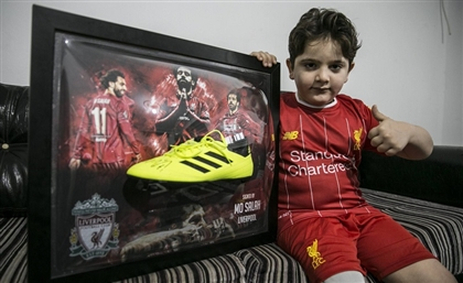 Mohamed Salah Makes Syrian Child Amputee's Dream Come True