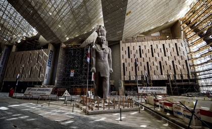 Grand Egyptian Museum Begins Installation of New 42-Piece Staircase Exhibit