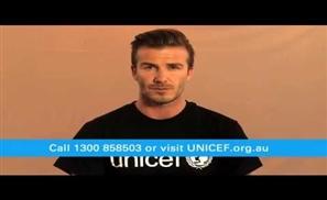 Beckham with #ChildrenOfSyria