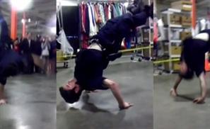 Cop Stomps Artist in Dance-Off