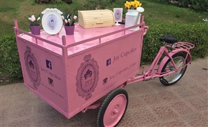 Meet Sheraton's Little Pink Roaming Dessert Bike: Joy Cupcakes