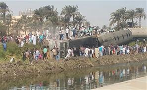 Train Derailed in Giza, At Least 5 Dead