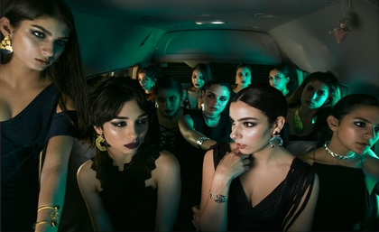 A Microbus Carries Cairo's Fiercest Working Women into the Night in Edgy New Fashion Campaign