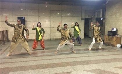 Flash Mob Startles Cairo Metro Commuters with Indian Folk Dance