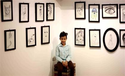 10-Year-Old Cairo Metro Vendor Launches Art Exhibition