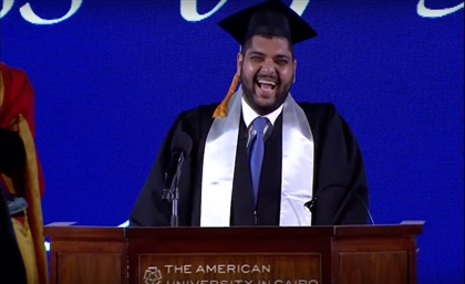 Video: This Egyptian AUC Graduate Gives His Peers the Most Honest Commencement Speech Ever