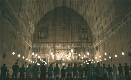 9 Gorgeous Photos of Worshippers during Night Prayers at Cairo's Iconic Sultan Hassan Mosque