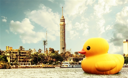 There's A Giant Rubber Duck Taking Over Cairo And We Know Why