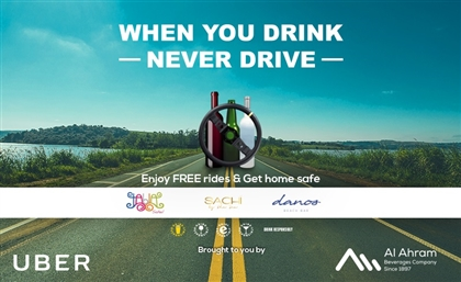 Al Ahram Beverages Teams Up with UBER and Give Free Rides in Sahel to Stop Drinking and Driving