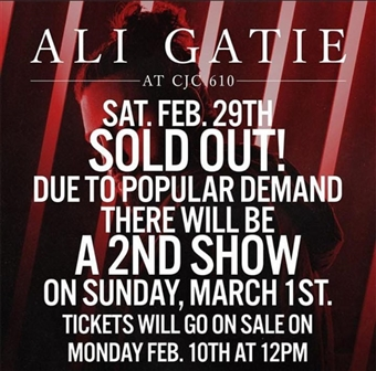 Ali Gatie @ CJC 610 (Sold out)