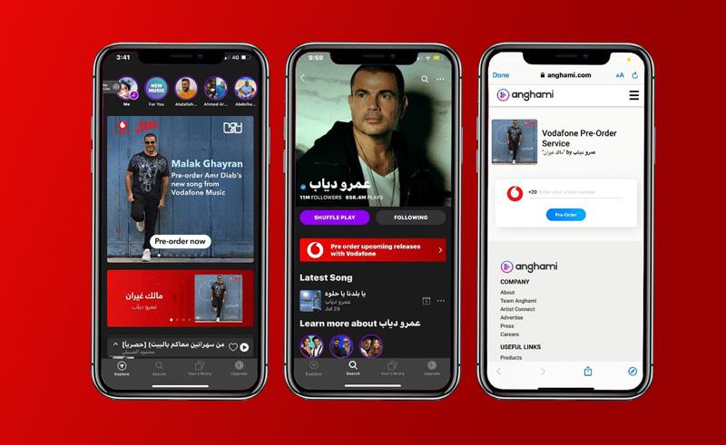 Anghami Vodafone Egypt