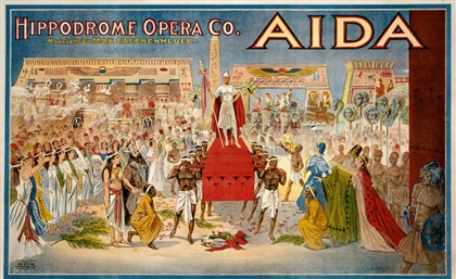 21 Gorgeous Posters of Opera Aida from Around the World